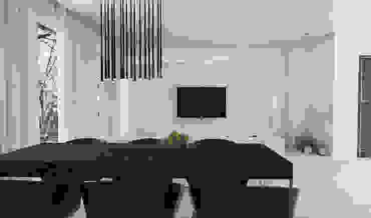 Salon z kuchnią Nowoczesna jadalnia od FOORMA Pracownia Architektury Wnętrz Nowoczesny