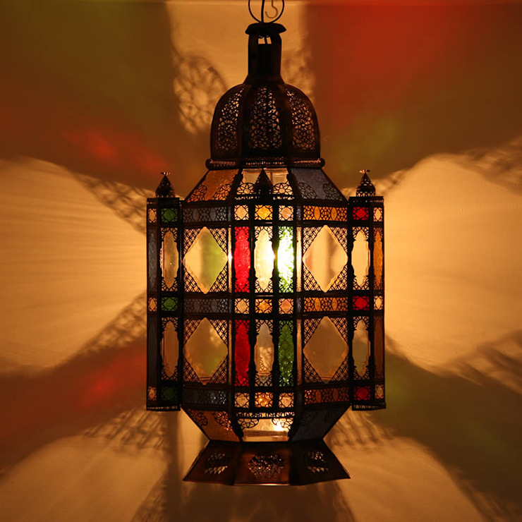 Orientaals hanglamp 'Moula XXL':  Gang, hal & trappenhuis door Orientflair,