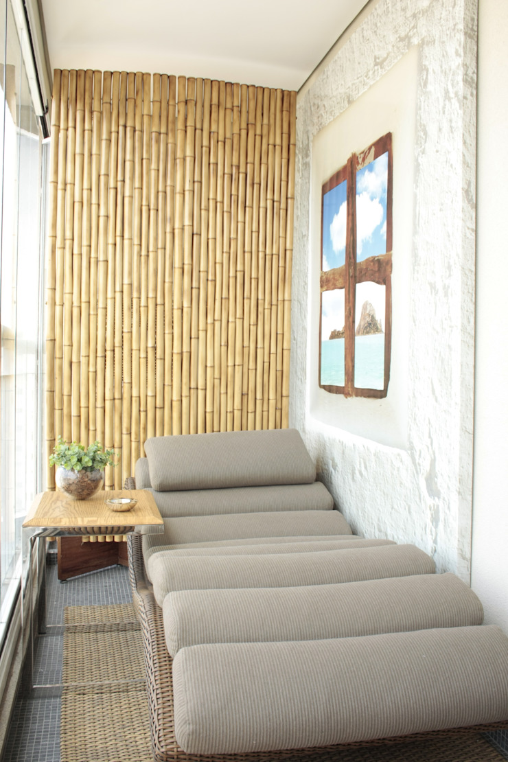 Fernanda Moreira - DESIGN DE INTERIORES Terrace Bamboo Yellow