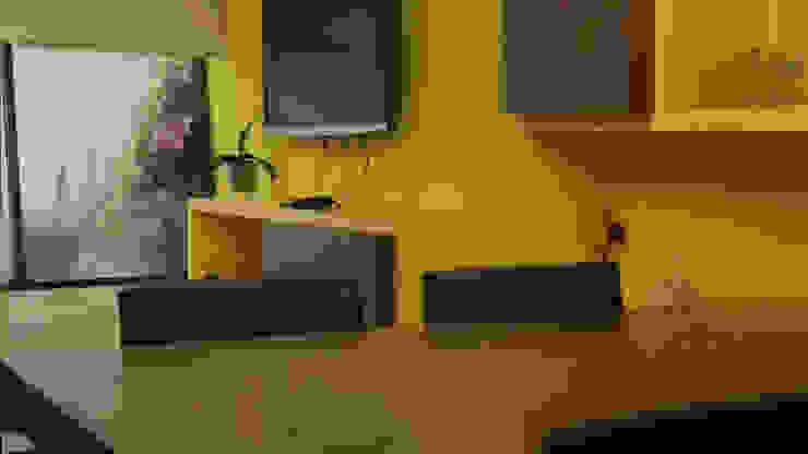 Mesa de Nogal Comedores eclécticos de Teorema Arquitectura Ecléctico Madera Acabado en madera