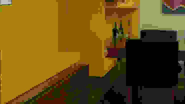 Mueble de TV y Repisas Comedor Comedores eclécticos de Teorema Arquitectura Ecléctico Madera Acabado en madera