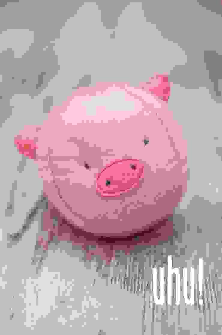 Kuliste zwierzaki - świnka od uhu! Minimalistyczny Wełna Pomarańczowy