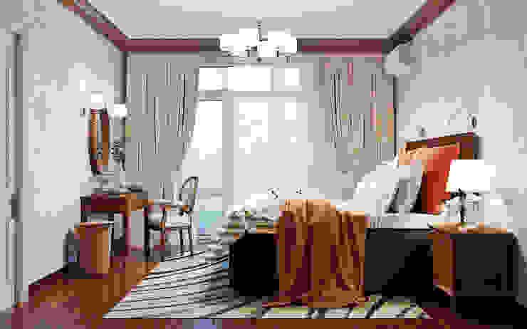 Яркие краски осени в интерьере спальни Спальня в классическом стиле от Студия дизайна Interior Design IDEAS Классический