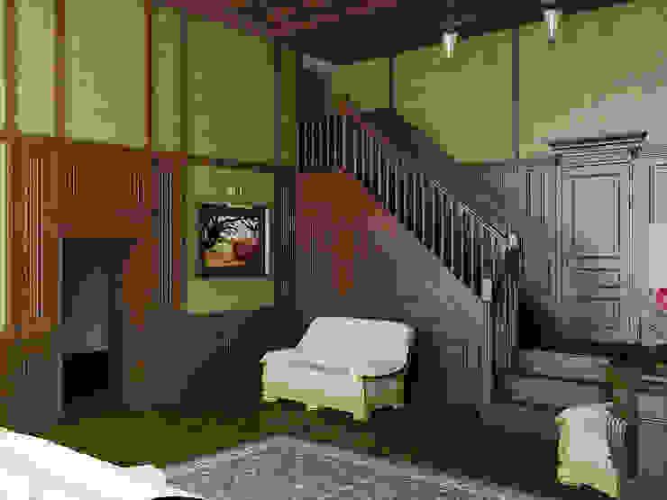 Три стиля Гостиная в классическом стиле от Дизайн студия Александра Скирды ВЕРСАЛЬПРОЕКТ Классический