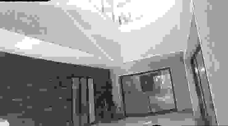 Maison Bioclimatique Couloir, entrée, escaliers méditerranéens par Ecotech-Architecture Méditerranéen