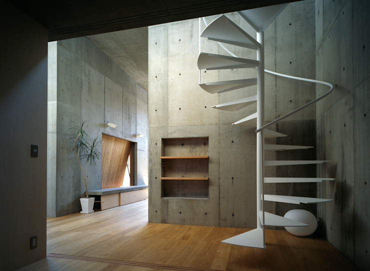 Modern Koridor, Hol & Merdivenler 桐山和広建築設計事務所 Modern