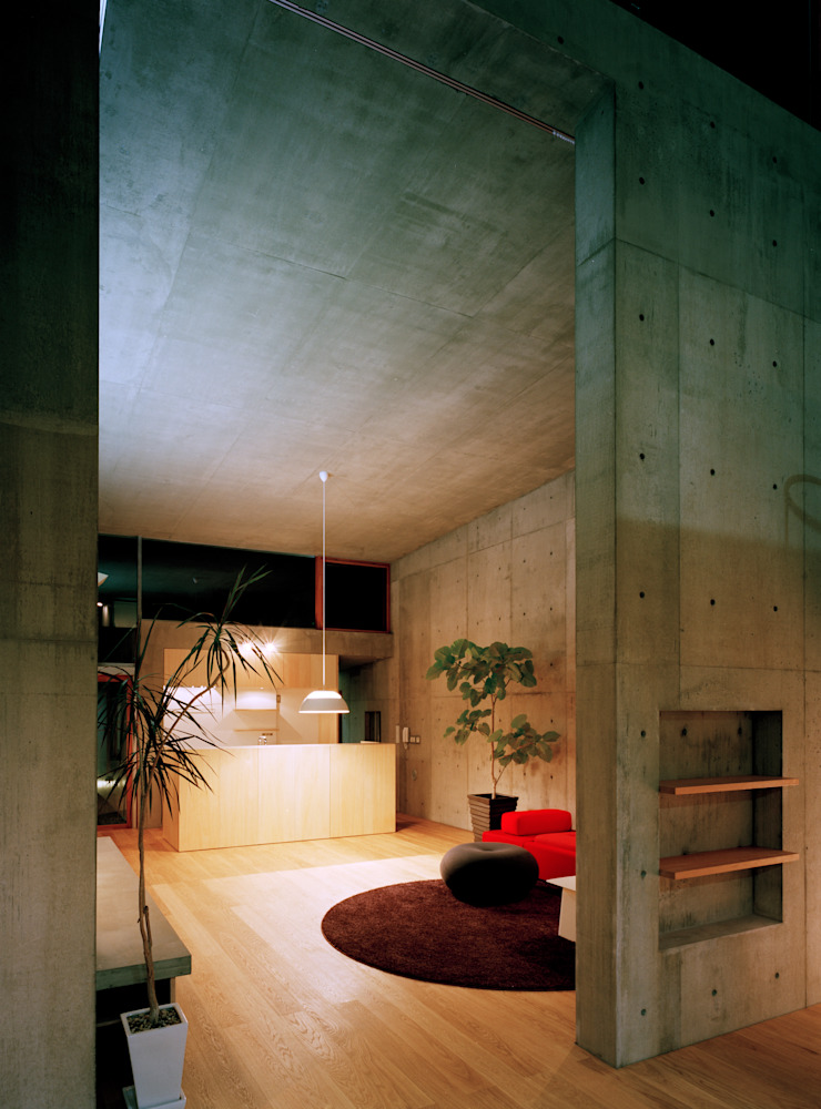 Modern Oturma Odası 桐山和広建築設計事務所 Modern