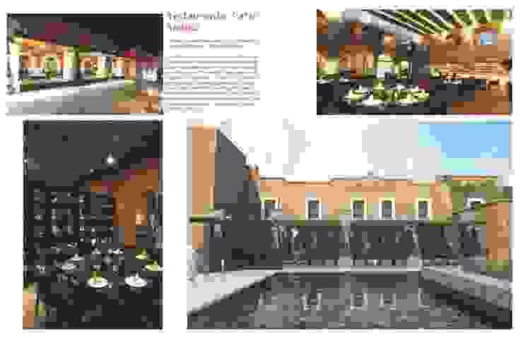 R e s t a u r a n t e P a t i o Andaluz Gastronomía de estilo moderno de Flores Rojas Arquitectura Moderno