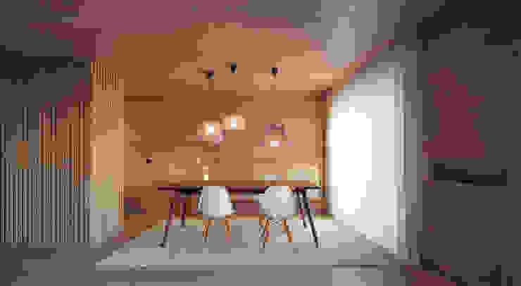 Apartamento na Póvoa de Varzim Salas de estar modernas por Pitagoras Group Moderno Madeira Acabamento em madeira