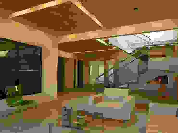Remodelación Casa Lomas de Arbide Salones modernos de Flores Rojas Arquitectura Moderno