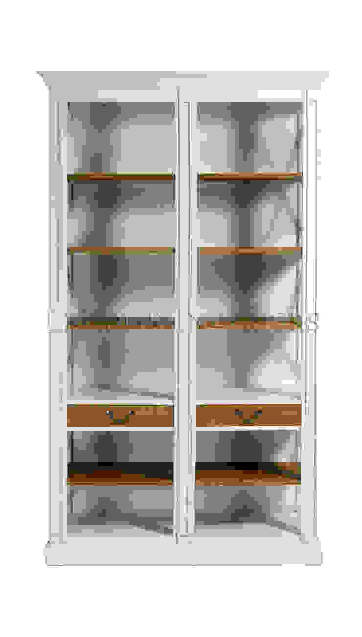 Шкаф Cumbrian Black Cross Frame Bookcase L062 от LeHome Interiors Классический Дерево Эффект древесины