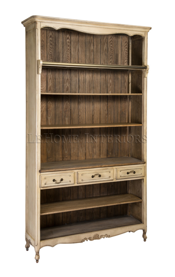 Шкаф Basilique Wide Bookcase L089 от LeHome Interiors Классический Дерево Эффект древесины