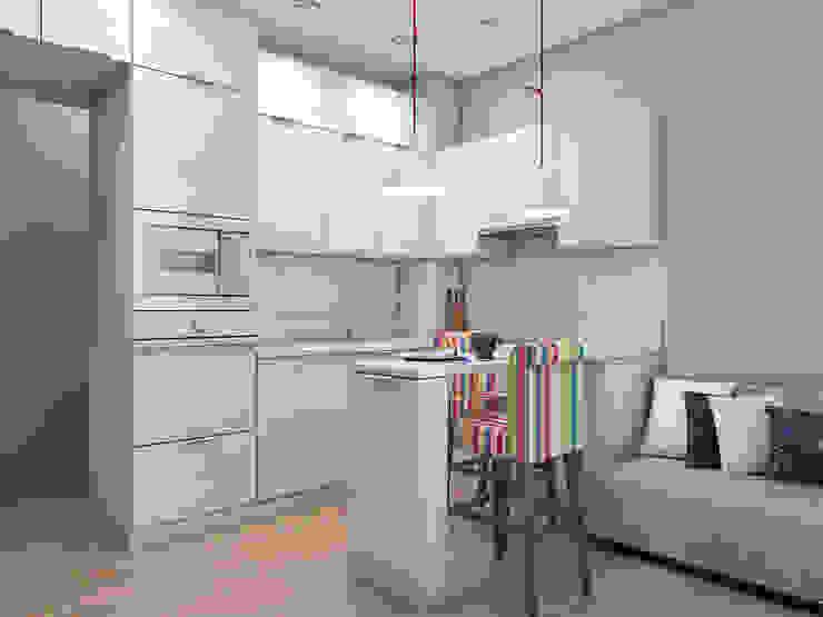 Проект кухонного гарнитура на 12.5 кв.м. от MARIA MELNICOVA студия SIERRA Лофт Пластик