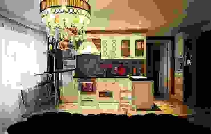 Дизайн интерьера кухни-гостиной на Кавалерийской Кухни в эклектичном стиле от MARIA MELNICOVA студия SIERRA Эклектичный