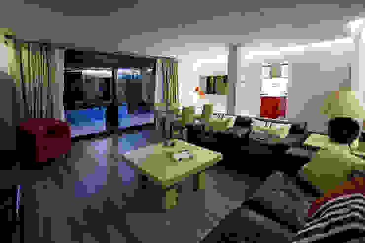 Casa Victoria Salones de estilo moderno de mdm09 arquitectura Moderno