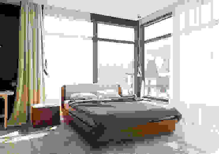 Chambre moderne par 2GO Design Studio Moderne Bois Effet bois