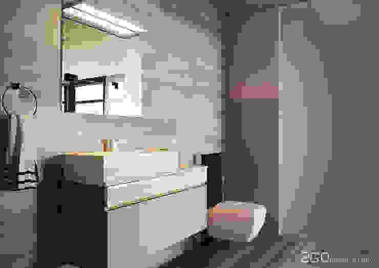 """Квартира - студия """"Praga"""" Ванная комната в стиле модерн от 2GO Design Studio Модерн Дерево Эффект древесины"""
