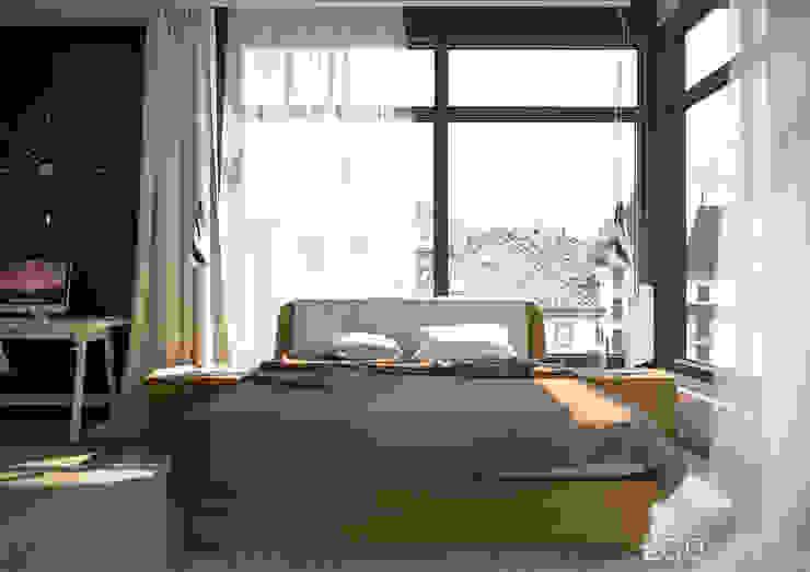 """Квартира - студия """"Praga"""" Спальня в стиле модерн от 2GO Design Studio Модерн Дерево Эффект древесины"""