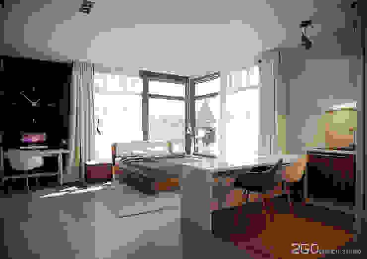 """Квартира - студия """"Praga"""" Гостиная в стиле модерн от 2GO Design Studio Модерн Плитка"""