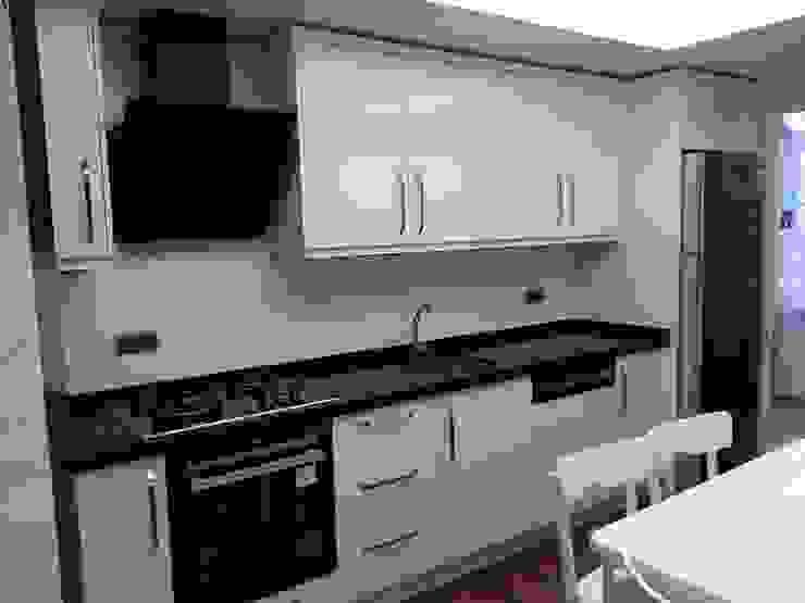 Erim Mobilya Dapur Modern Kayu Buatan White