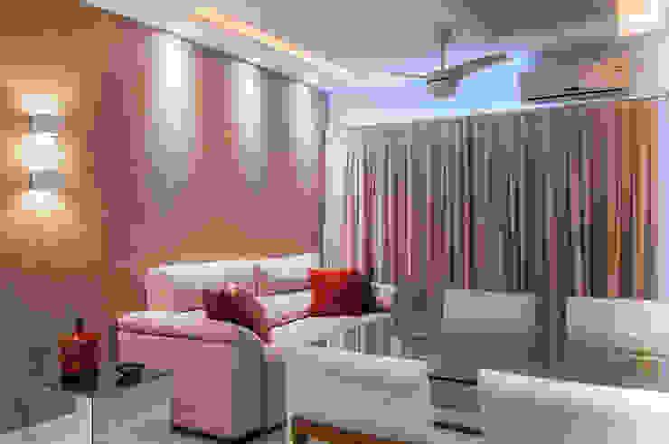 Sala de Estar e Jantar Salas de jantar modernas por Millena Miranda Arquitetura Moderno Linho Rosa