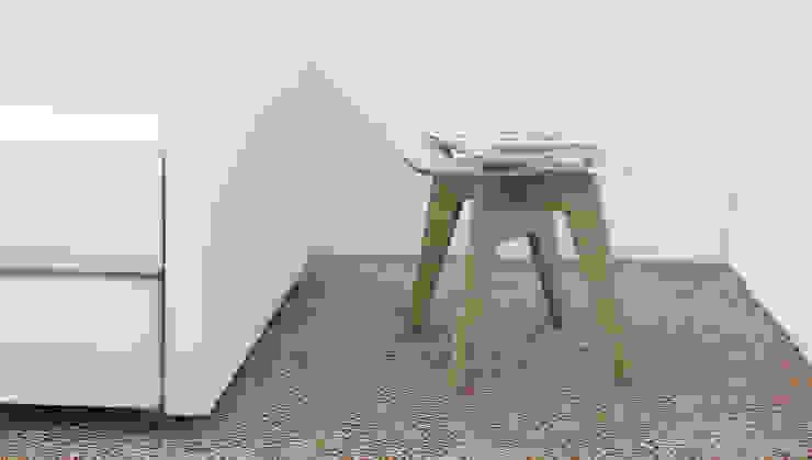 Mesa Lateral de diesco Moderno Compuestos de madera y plástico