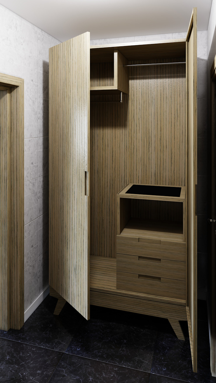 Armario de diesco Moderno Compuestos de madera y plástico