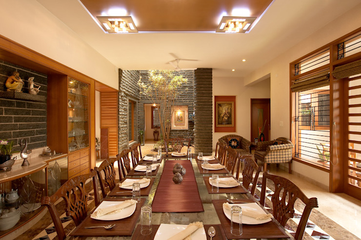 Residence Sangeeta Asian style dining room by Kumar Consultants Asian