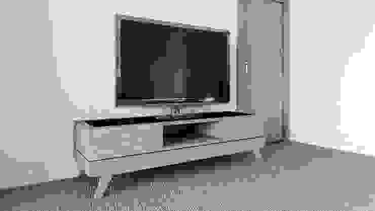 Mueble de TV tipo Credenza de diesco Moderno Compuestos de madera y plástico