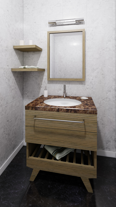Vanity de diesco Moderno Compuestos de madera y plástico