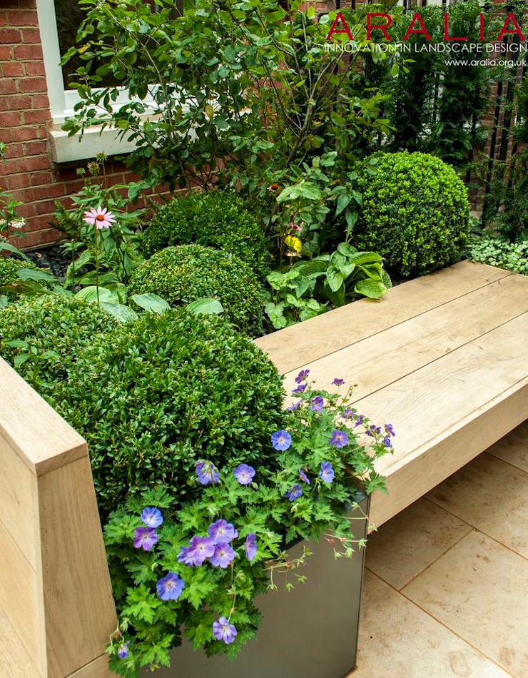 Knightsbridge Roof Terrace - Aralia Garden Design Modern commercial spaces by Aralia Modern Wood Wood effect
