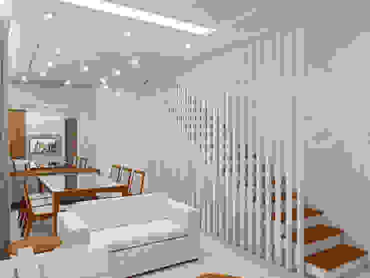 Residência 4x22: Corredores e halls de entrada  por Merlincon Prestes Arquitetura,Moderno