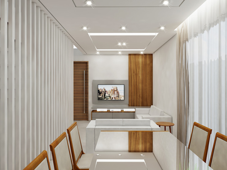 Residência 4x22 Salas de estar modernas por Merlincon Prestes Arquitetura Moderno