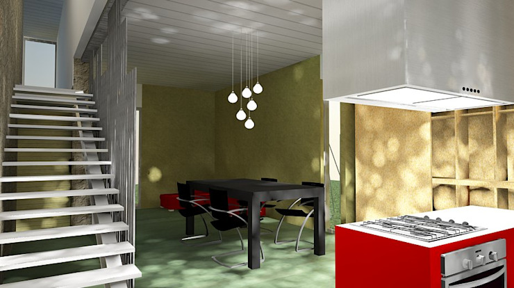 casa p Cocinas minimalistas de estudio m Minimalista