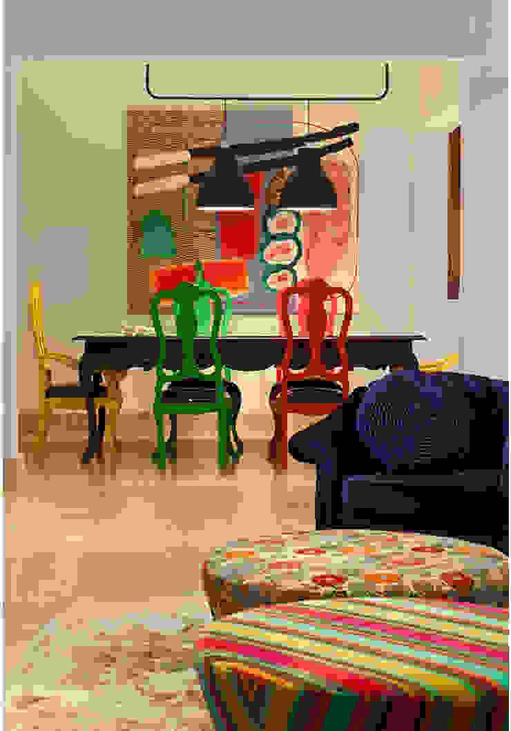 Rustic style dining room by MMMundim Arquitetura e Interiores Rustic