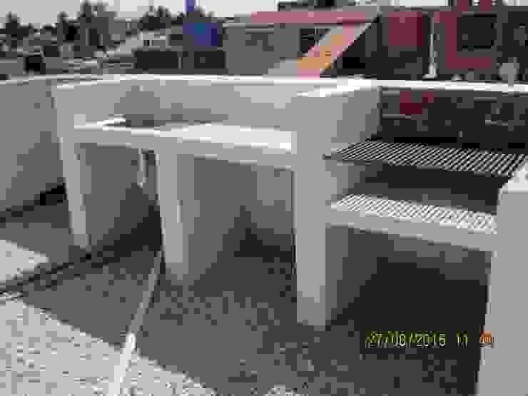 Parrilla Fixing Balcones y terrazas eclécticos Ladrillos Blanco