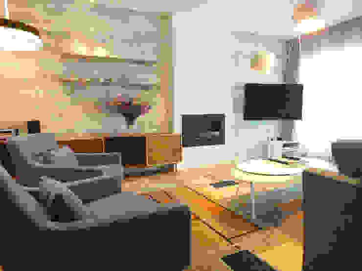 Apartamento de vacaciones en Sanxenxo, Galicia. Salones de estilo moderno de Oito Interiores Moderno