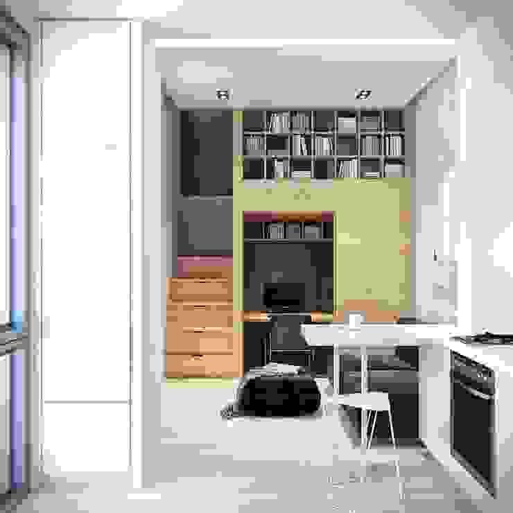 ミニマルデザインの キッチン の Denis Svirid ミニマル