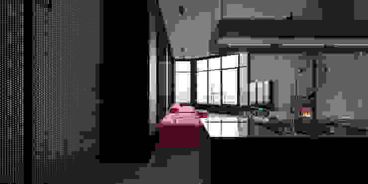 ik1-house Гостиная в стиле минимализм от IGOR SIROTOV ARCHITECTS Минимализм