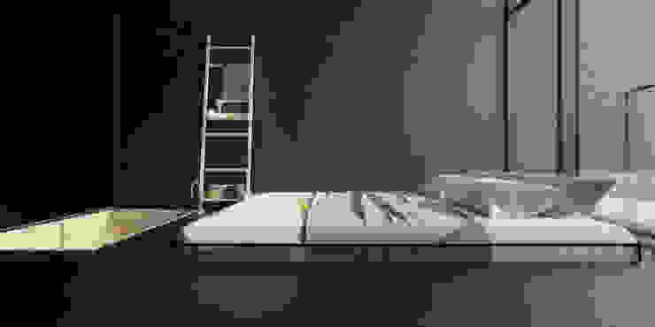 ik1-house Спальня в стиле минимализм от IGOR SIROTOV ARCHITECTS Минимализм