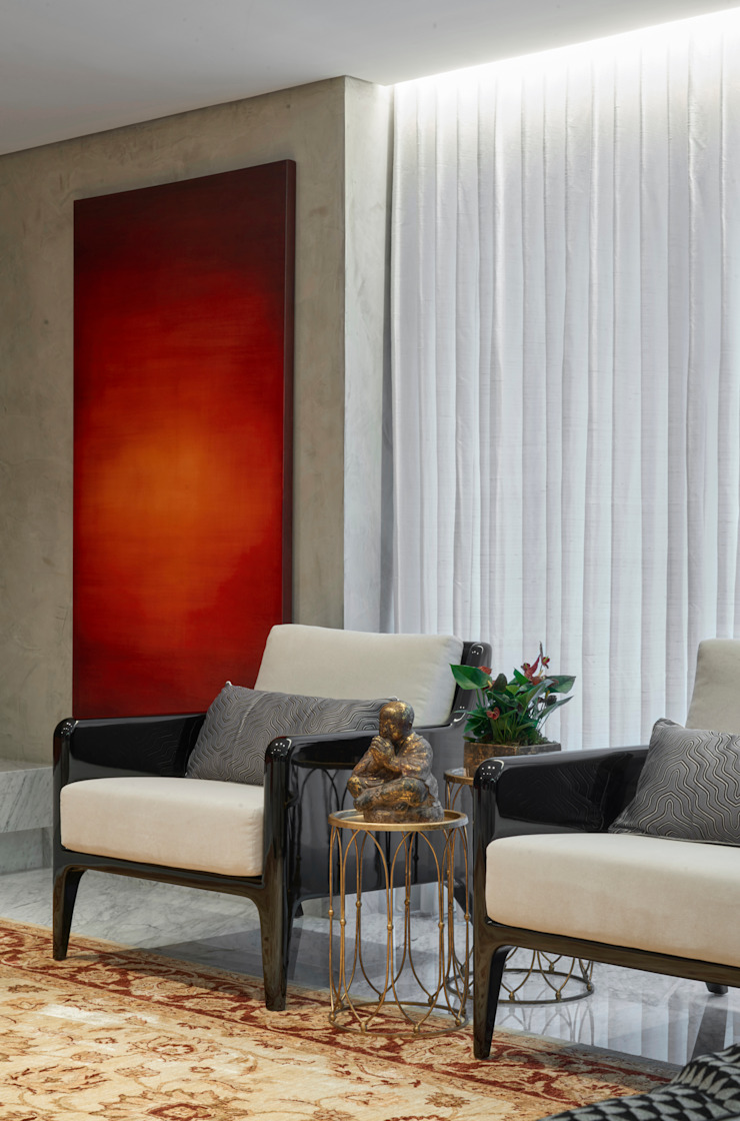 Salas modernas de Isabela Canaan Arquitetos e Associados Moderno