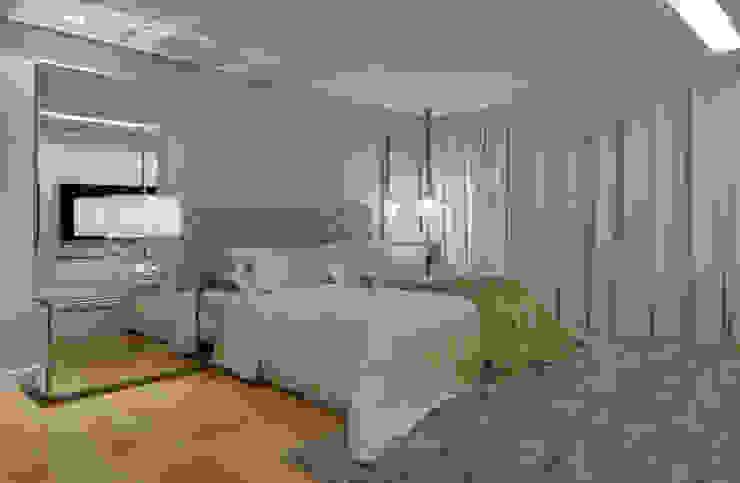 モダンスタイルの寝室 の Isabela Canaan Arquitetos e Associados モダン