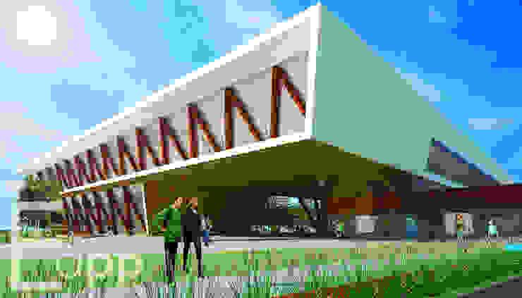 Centro Cultural de Joinville (Trabalho Acadêmico) Centros de exposições modernos por Estúdio Criativo Arquitetura e Interiores Moderno