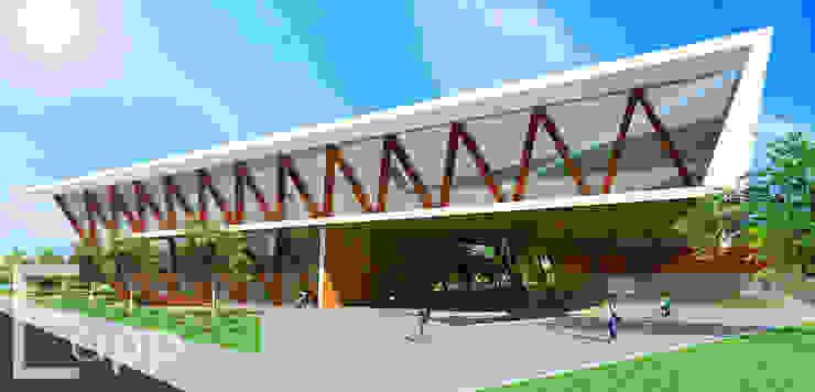 Centro Cultural de Joinville (Trabalho Acadêmico) Espaços comerciais modernos por Estúdio Criativo Arquitetura e Interiores Moderno