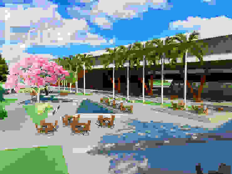 Centro Cultural de Joinville (Trabalho Acadêmico) Escolas modernas por Estúdio Criativo Arquitetura e Interiores Moderno