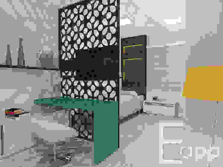 Recámaras de estilo  por Estúdio Criativo Arquitetura e Interiores