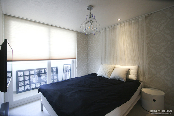 Scandinavian style bedroom by 홍예디자인 Scandinavian