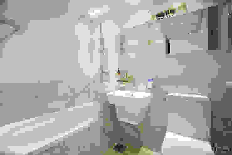 파스텔톤의 따뜻한 신혼집 _ 33py 스칸디나비아 욕실 by 홍예디자인 북유럽