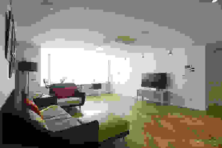 파스텔톤의 따뜻한 신혼집 _ 33py 스칸디나비아 거실 by 홍예디자인 북유럽