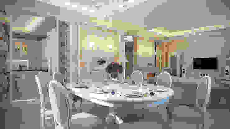 Четырехкомнатная квартира в классическом стиле Столовая комната в классическом стиле от Details, design studio Классический